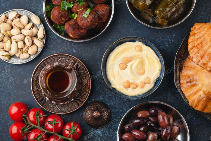 Middle Eastern assorted meze