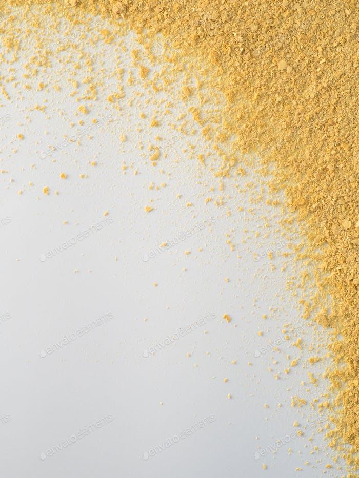 Nutritional inactive yeast top view