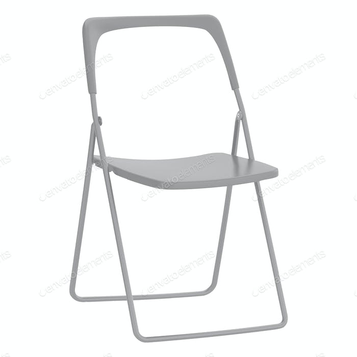 folding chair isolated on white