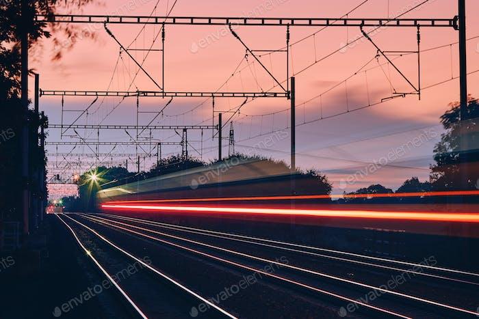 Railway at dawn