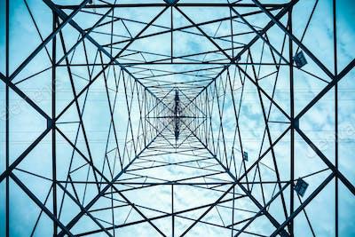 electricity pylon structure closeup