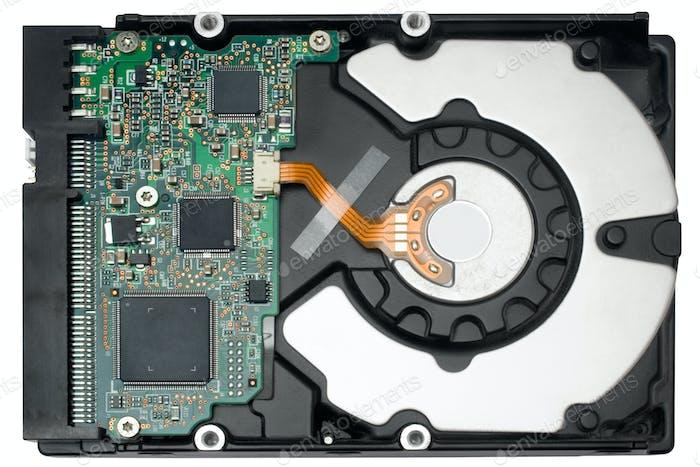 Interne Festplatte mit Clipping-Pfad isoliert auf weißem Hintergrund