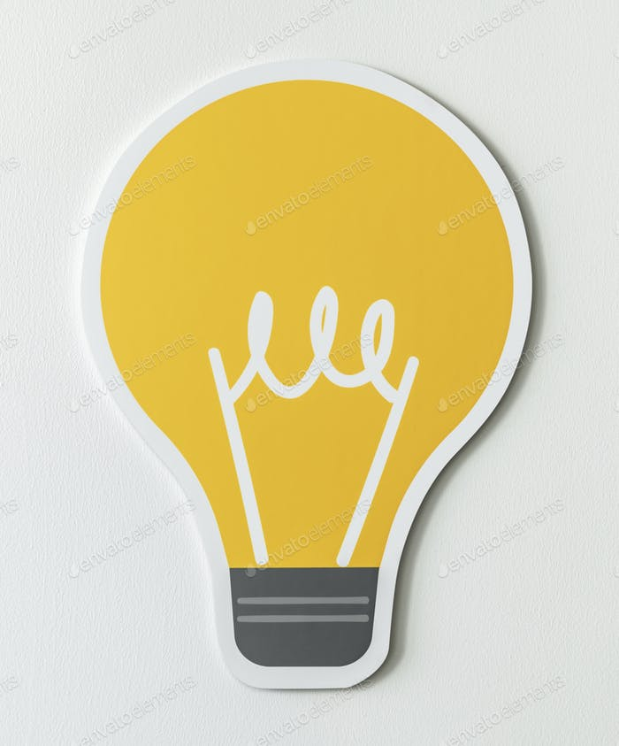 Creative light bulb ideas icon