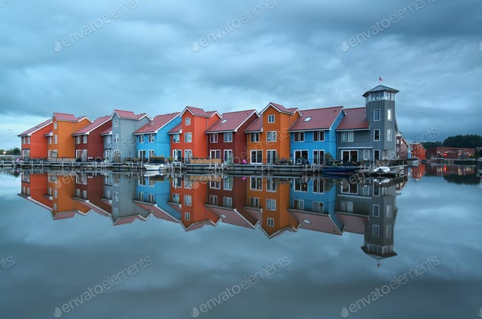 colorful buildings on water