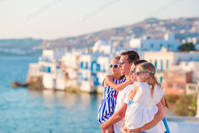 Familie im Urlaub in Europa