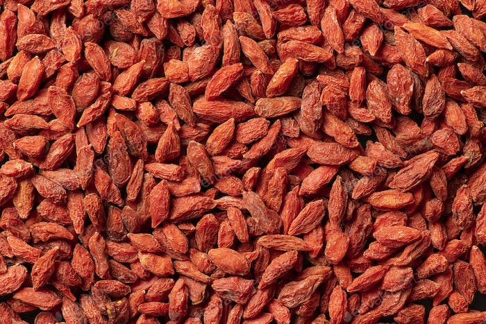 Background texture of dried goji berries