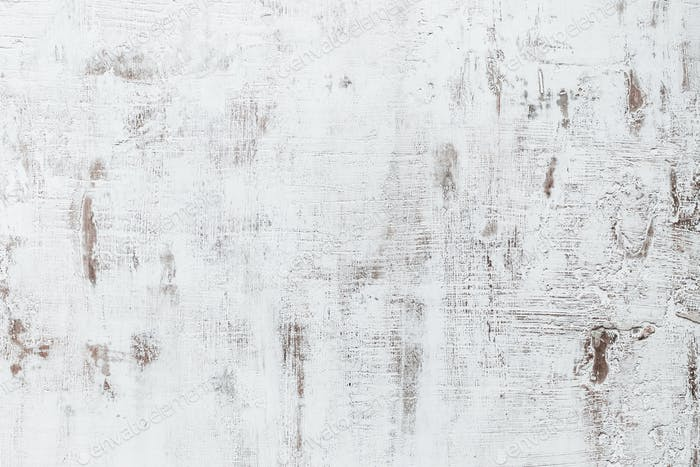 Grunge texture of white painted wall