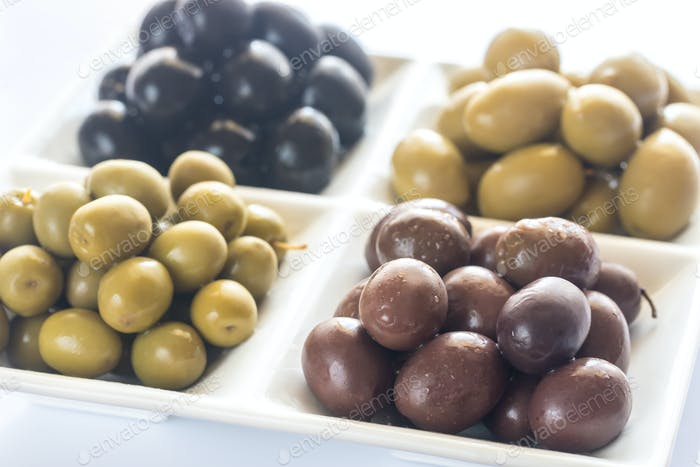 Assortment of olives