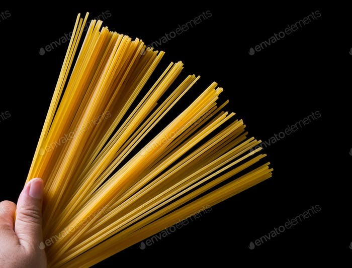 Unfold pasta in hand