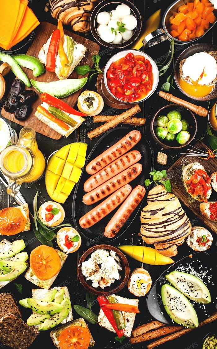 Variety of fresh food ingredients