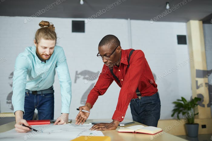 Two Entrepreneurs Planning Strategy