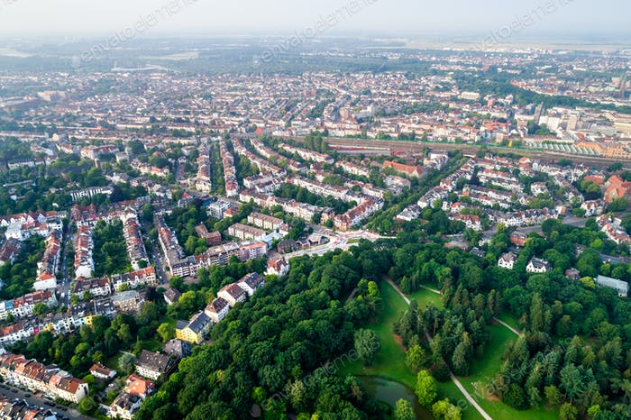City Municipality of Bremen Aerial FPV drone footage. Bremen is