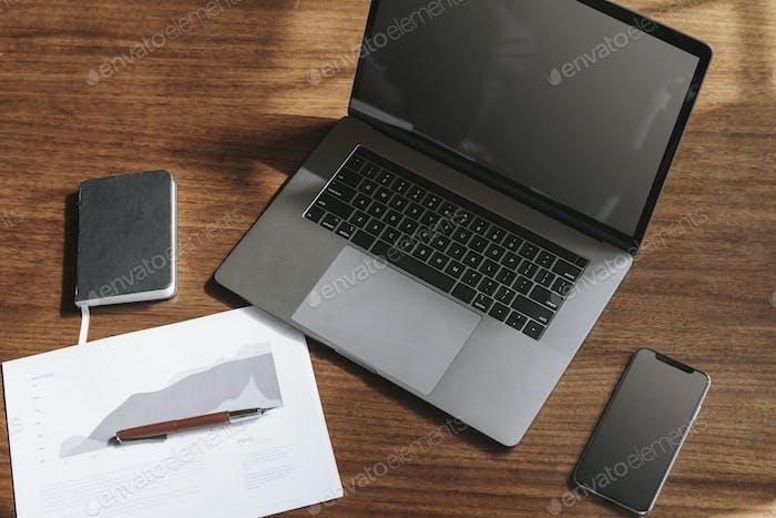 Temporary office desk