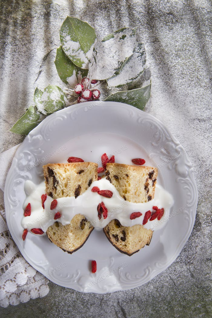 Typical Dessert Of the Holiday Season, A Small Cake