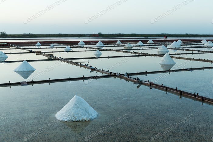 Salt farm in Tainan