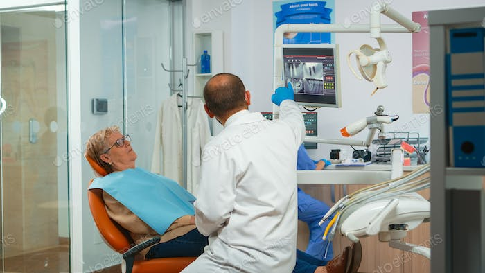 Dentistry doctor asking for dental radiography