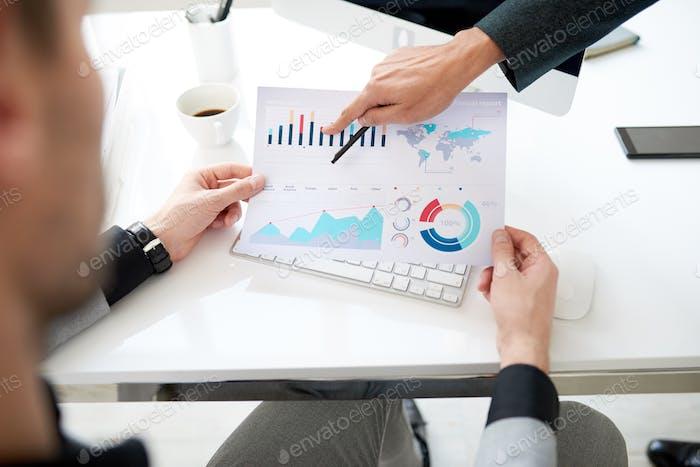 Analyzing Statistic Data at Working Meeting