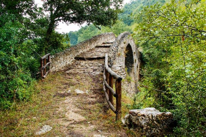 A medieval bridge in campania, italy