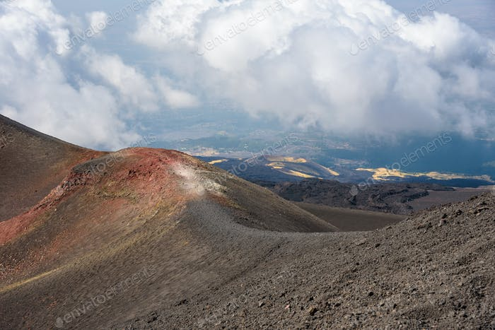 Landscape of Mount Etna
