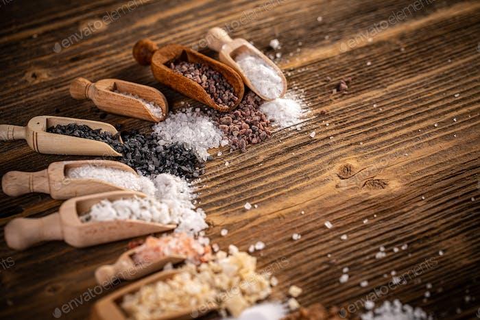 Crystals of kitchen salt