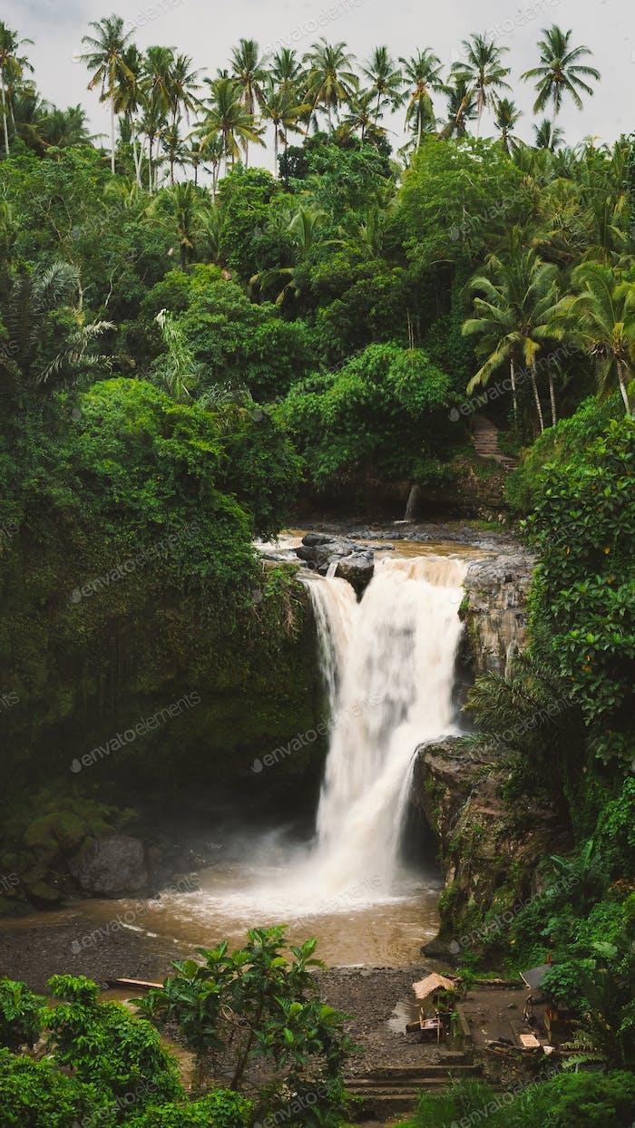 Tegenungan Waterfall. Ubud in Bali, Indonesia