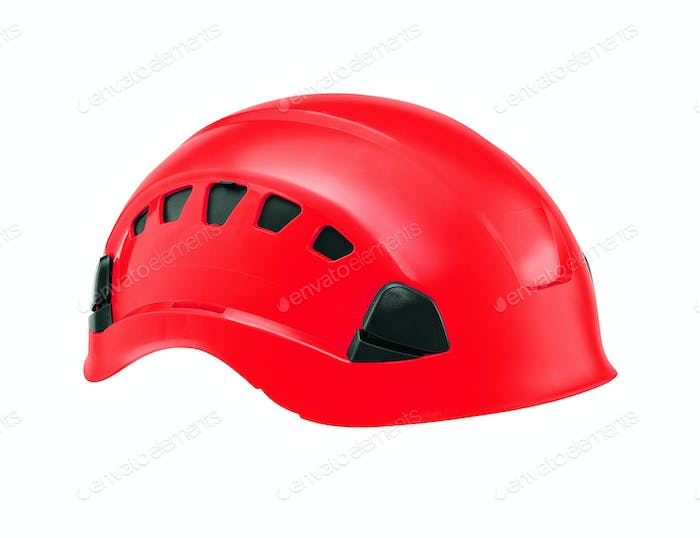 safety helmets isolated on white