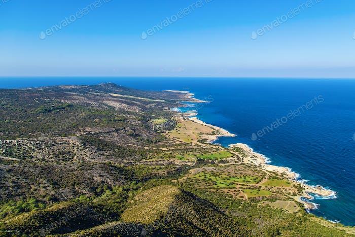 Cyprus Akamas Peninsula National Park mountain's top