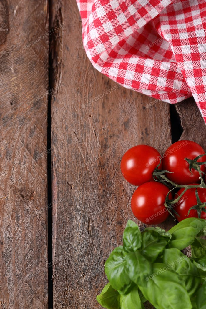 Wooden Food Background