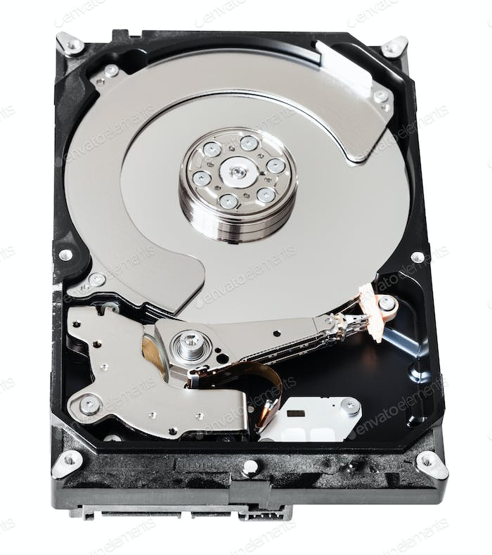 used sata hard disk drive box without cover