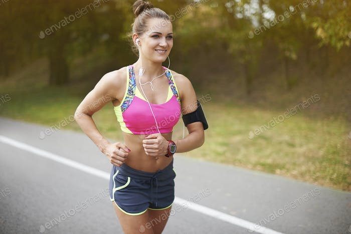 Nothing can stop me while I go jogging