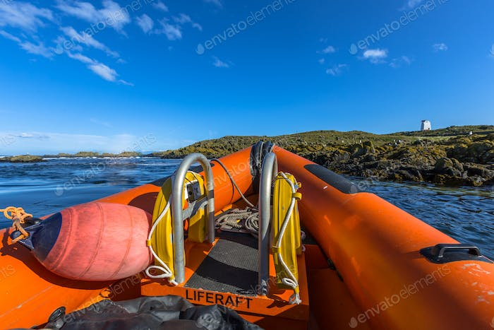 Rigid inflatable boat bow