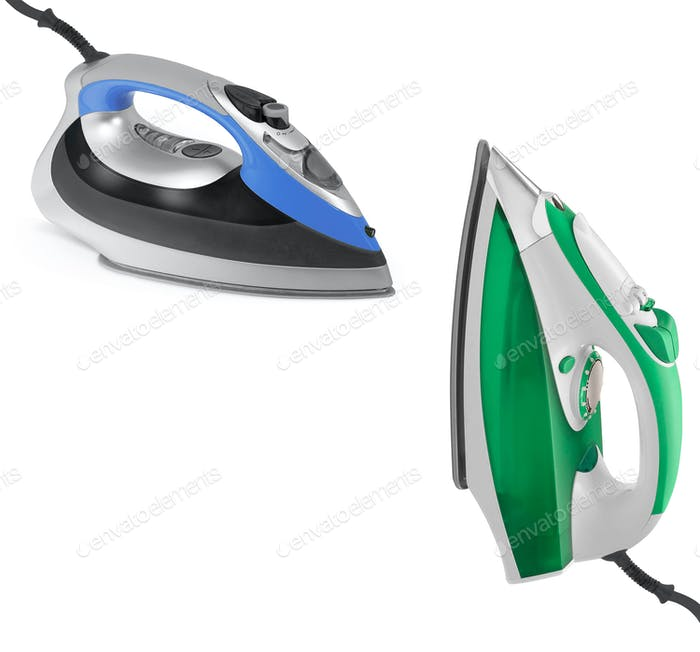 modern new two electric irons