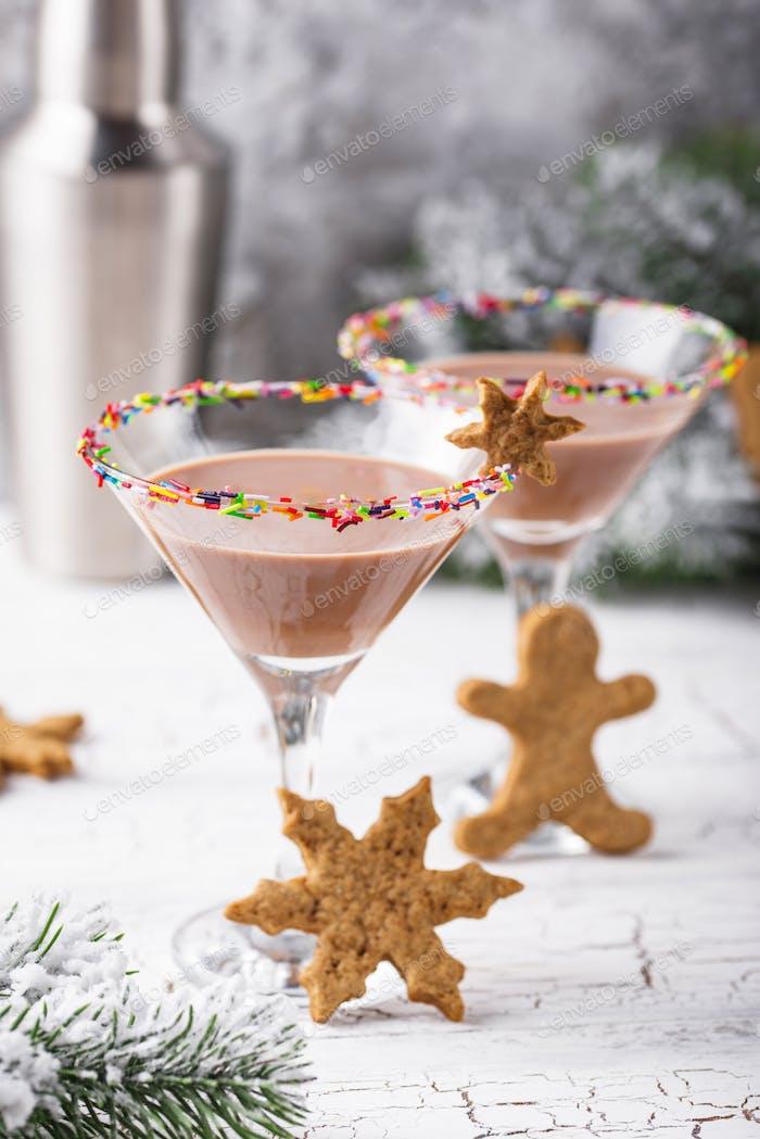Zuckerkekse Martini mit Streuselrand