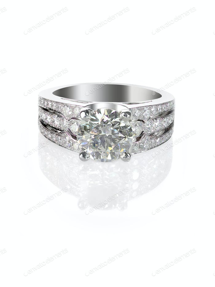 engagement ring round brilliiant Diamond Wedding band solitaire