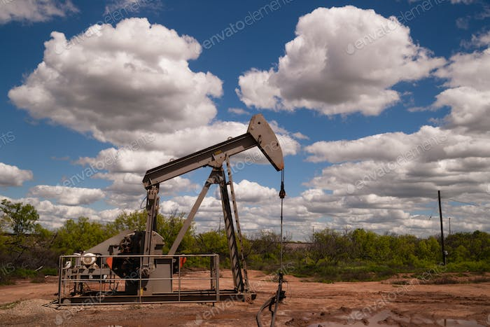 Pumpjack Oil Pump Fracking Equipment Natural Resource Extraction