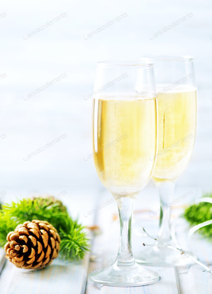Two Champagne Glass