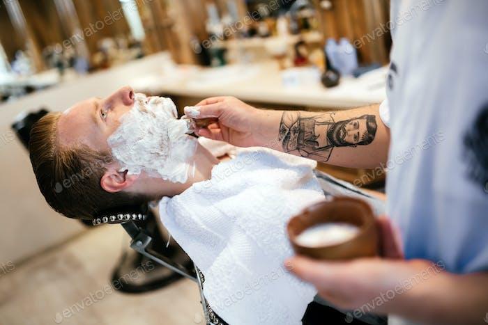 Hair beard and mustache treatment