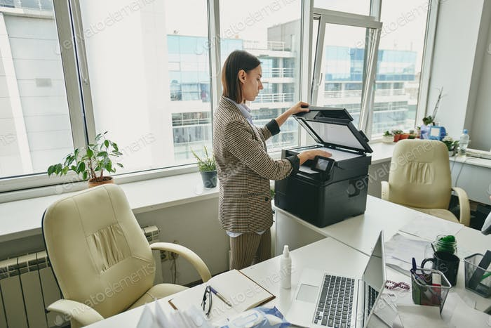 Making copy of document in empty office