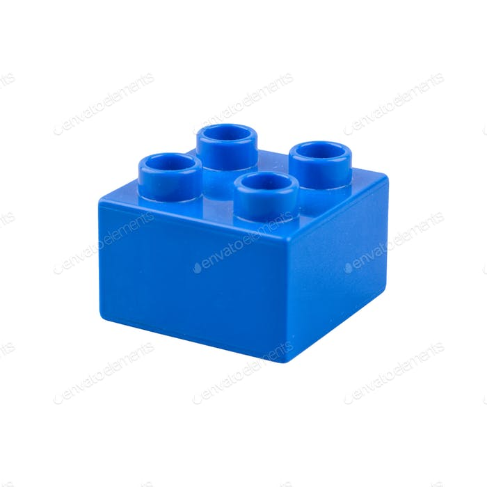Blue cube on a white background