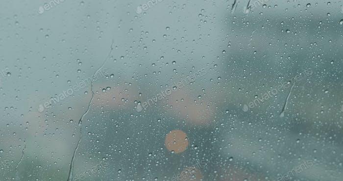 Rain on the glass window
