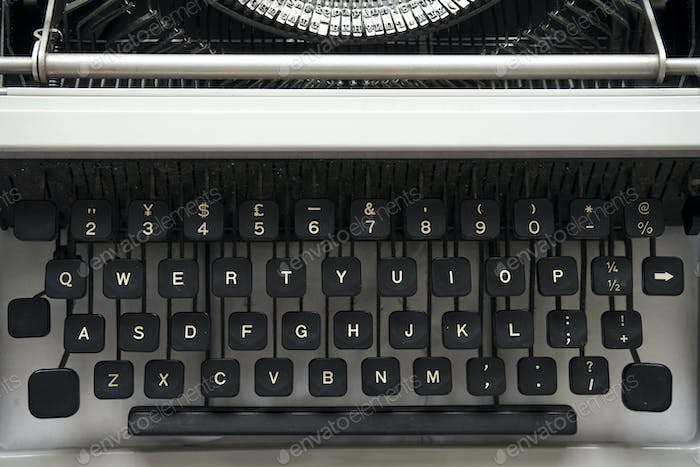 Details of an old retro typewriter