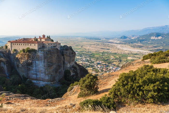 St Stefan Monastery in Meteora rocks, meaning suspended into air in Trikala, Greece