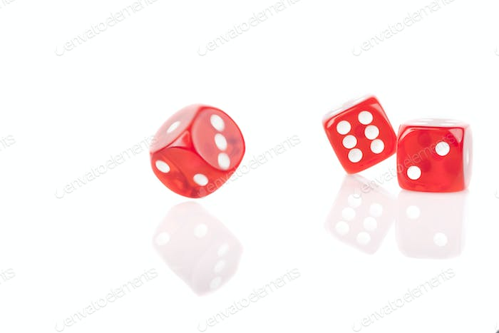 Three Bouncing Dice