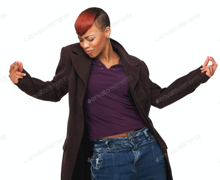 Happy African American Woman Enjoying life