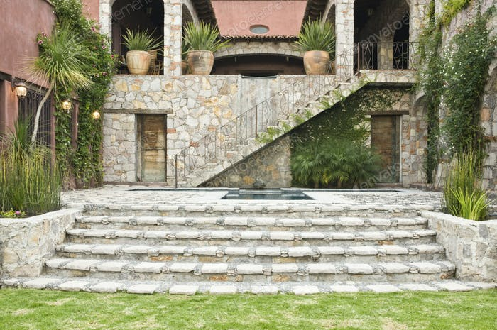 Steps to the Casa Luna Ranch