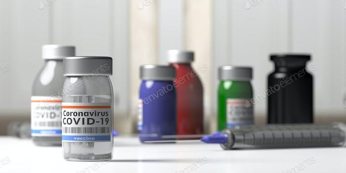 Covid 19 Coronavirus-Impfung. Medizinische Injektionsspritze