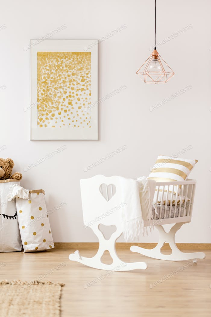 Nursery room with cradle