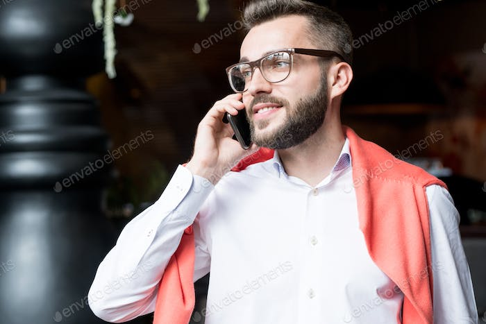 Handsome Young Businessman on Phone