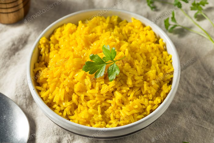 Homemade Steamed Turmeric Rice