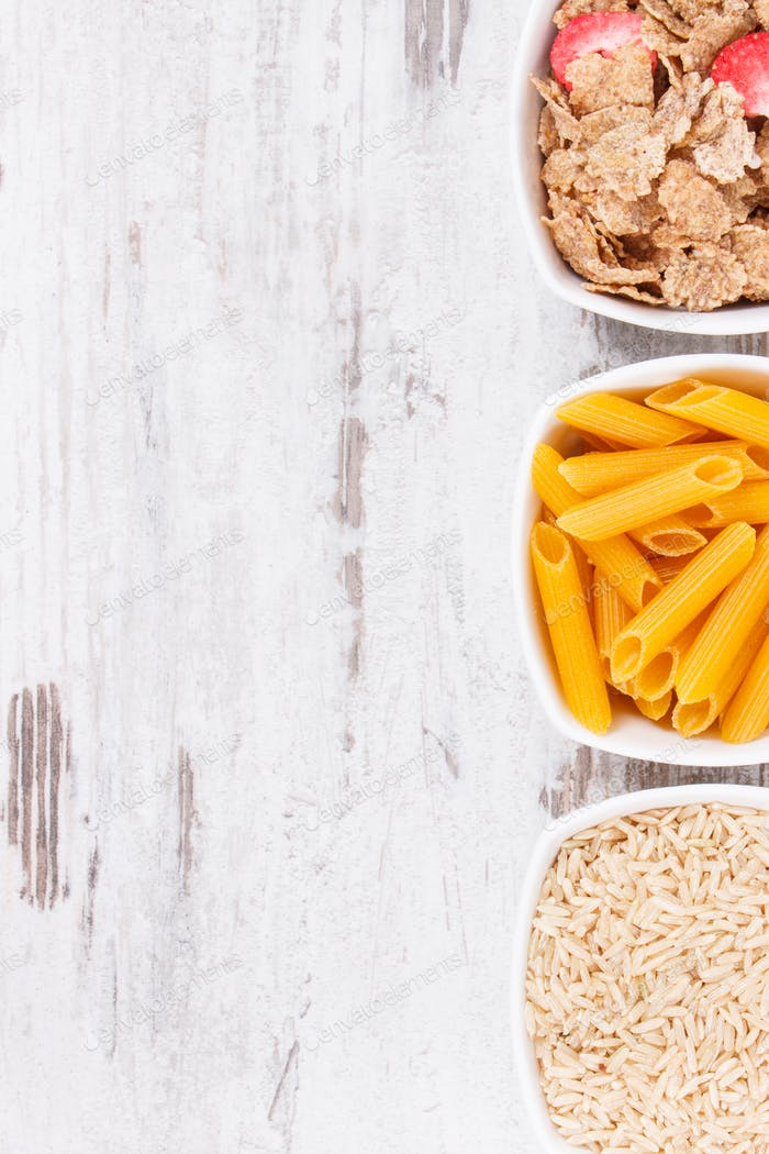 Products and ingredients containing carbohydrates and dietary fiber